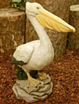 Large Pelican Statue - Painted