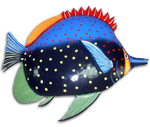 Large Red Fin Fish Wall Art