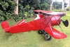 Large Red Plane Decor
