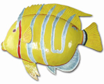 Large Silver Stripe Fish Wall Art
