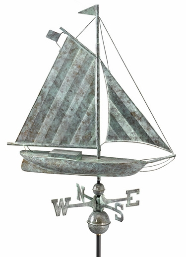 Large Sloop Boat Weathervane - Click to enlarge