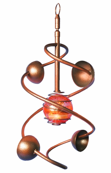 Large Solar Twirler - Bronze finish - Click to enlarge