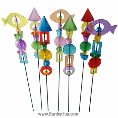 Large Sparkle Stix Garden Stakes (Set of 6) - Click to enlarge
