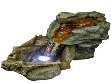Large Water Creek Fountain w/LED Lights - Click to enlarge