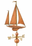Large Yawl Sailboat Weathervane