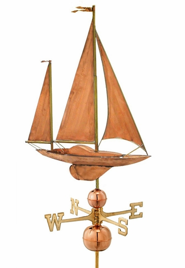 Large Yawl Sailboat Weathervane - Click to enlarge