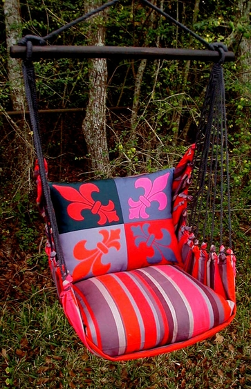 Lava Stripe French Quarter Hammock Chair Swing Set - Click to enlarge