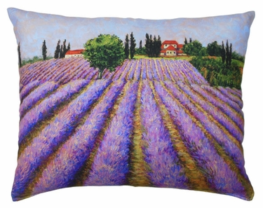 Lavender Fields Outdoor Pillow - Click to enlarge