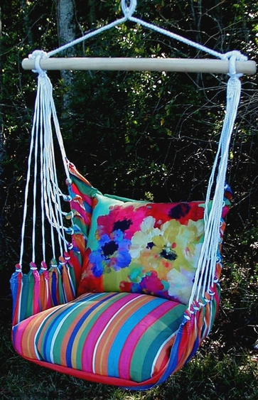 Le Jardin Impression Hammock Chair Swing Set - Click to enlarge