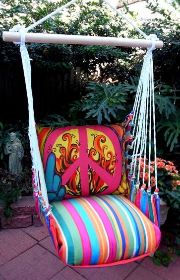 Le Jardin Peaceful Hammock Chair Swing Set - Click to enlarge