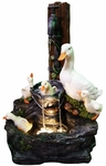 LED Bathing Ducks Outdoor Fountain