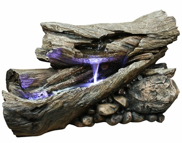 LED Rainforest Horizontal Waterfall Outdoor Fountain - Click to enlarge