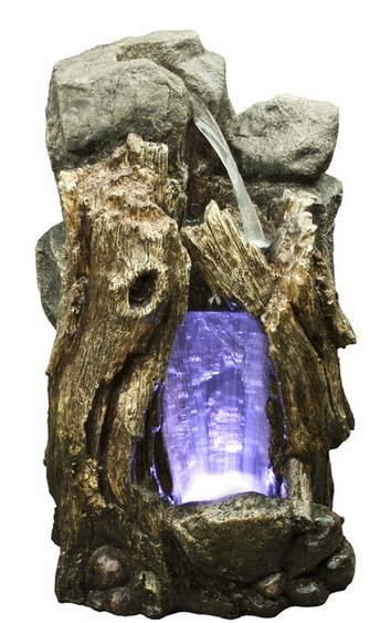 LED Rainforest Small Waterfall Outdoor Fountain - Click to enlarge