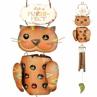Life is Purrr-fect Wind Chime - Click to enlarge