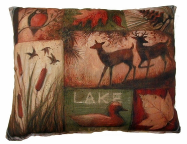 Lodge Collage Outdoor Pillow - Click to enlarge