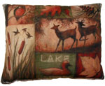 Lodge Collage Outdoor Pillow