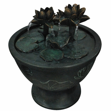 Lotus Harmony Water Fountain - Click to enlarge