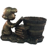 Lucy Bookworm Planter - Antique Bronze