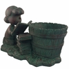 Lucy Bookworm Planter - Bronze Patina