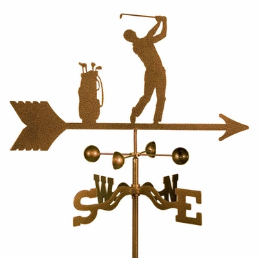 Male Golfer Weathervane - Click to enlarge