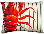 Marina Lobster Outdoor Pillow
