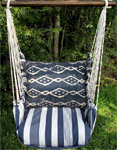 Marina Stripe Blue Batik Hammock Chair Swing Set