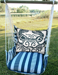 Marina Stripe Crab Block Hammock Chair Swing Set