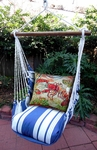 Marina Stripe Fresh Catch Lobster Hammock Chair Swing Set