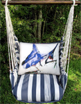 Marina Stripe Marlin Hammock Chair Swing Set