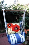Marina Stripe Poppies Hammock Chair Swing Set