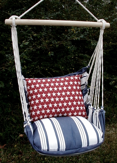 Marina Stripe Stars Hammock Chair Swing Set - Click to enlarge