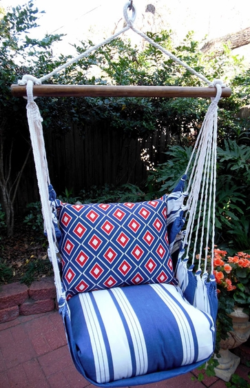 Marina Stripe Vector Hammock Chair Swing Set - Click to enlarge