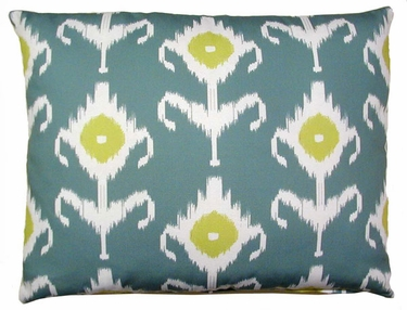 Meadow Ikat Outdoor Pillow - Click to enlarge