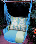Meadow Mist Blue Bejeweled Hammock Chair Swing Set