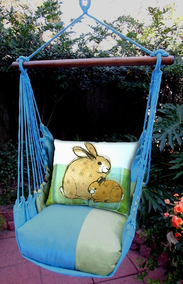 Meadow Mist Bunnies Hammock Chair Swing Set - Click to enlarge