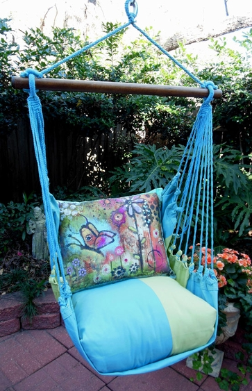 Meadow Mist Butterfly Hammock Chair Swing Set - Click to enlarge