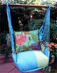 Meadow Mist Floral Canvas Hammock Chair Swing Set