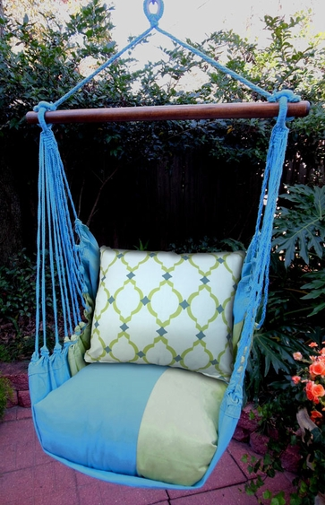 Meadow Mist Latice Hammock Chair Swing Set - Click to enlarge