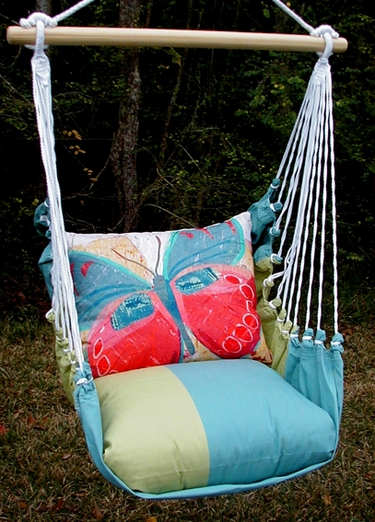 Meadow Mist Paper Butterfly Hammock Chair Swing Set - Click to enlarge