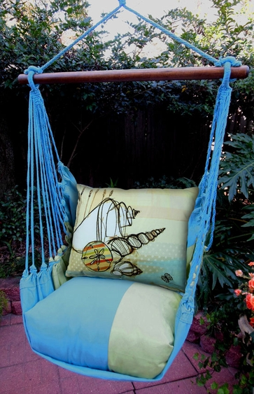 Meadow Mist Seashells Hammock Chair Swing Set - Click to enlarge