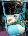 Meadow Mist White Daisies Hammock Chair Swing Set