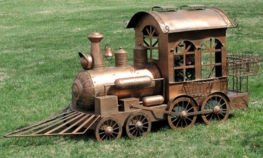 Medium Christmas Train - Copper - Click to enlarge