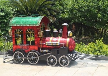 Medium Christmas Train - Red - Click to enlarge