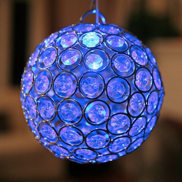 Medium Glam Ball LED - Blue - Click to enlarge