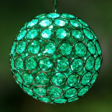 Medium Glam Ball LED - Green - Click to enlarge