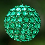 Medium Glam Ball LED - Green
