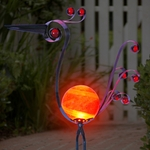 Metal Bird w/Red LED light