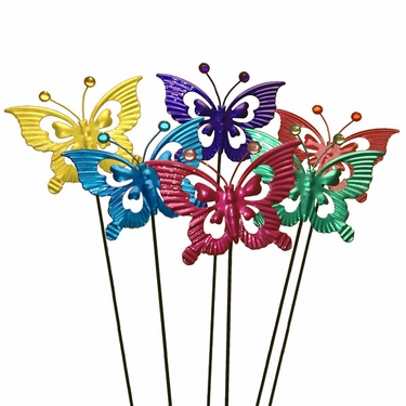 Metal Butterfly Garden Stakes (Set of 6) - Click to enlarge