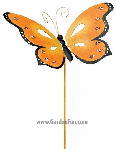 Metal Butterfly Jiggle Wings Stake - Click to enlarge