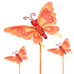 Metal Butterly Garden Stakes (Set of 6)